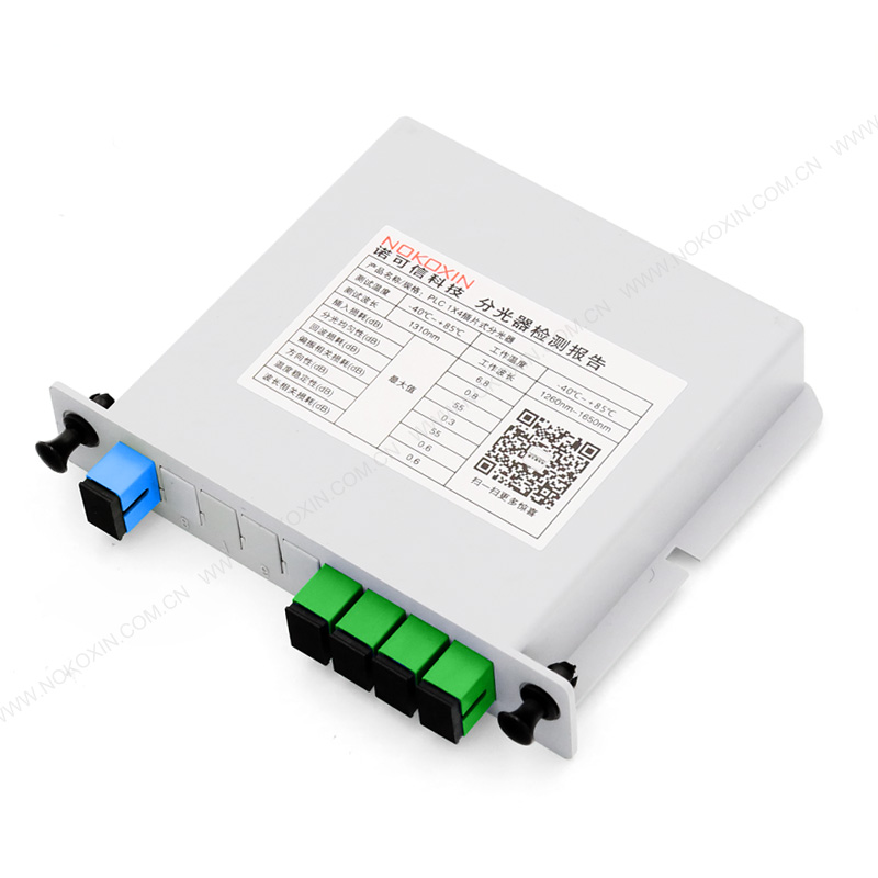 SC APC 1*4 PLC Splitter card insertion type