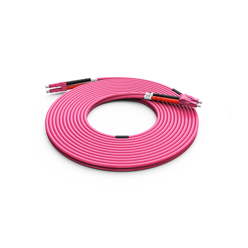 Fiber Optic Patch Cord, LC LC duplex optical patch cord mm OM4 Violet