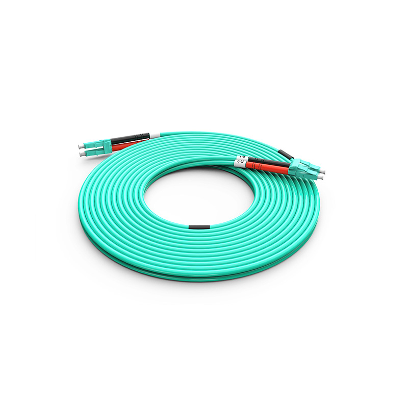 Fiber Optic Patch Cord, LC LC duplex optical patch cord mm OM3 aqua