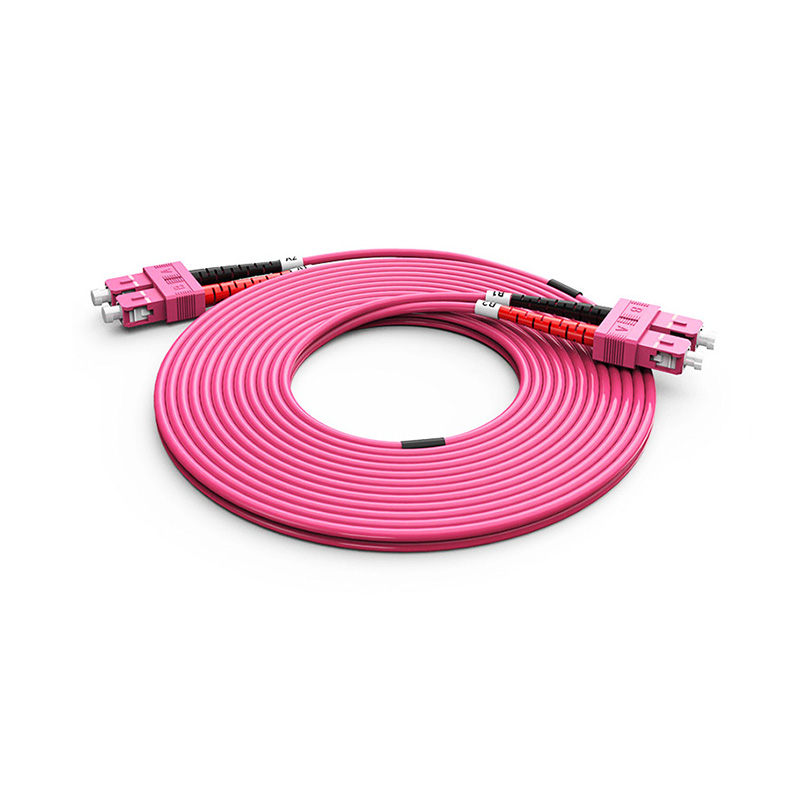 Fiber Optic Patch Cord, SC SC duplex optical patch cord mm OM4 Violet