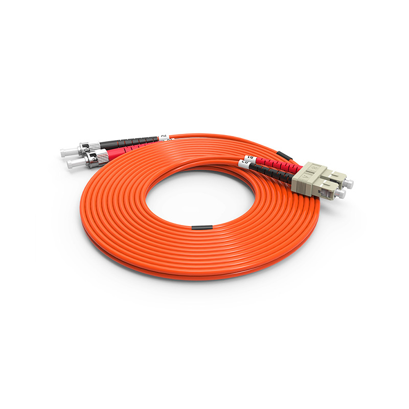 Fiber Optic Patch Cord, ST SC duplex optical patch cord mm OM1 OM2