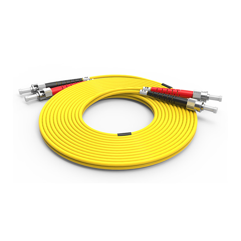Fiber Optic Patch Cord, ST ST duplex optical patch cord sm single mode
